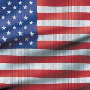 Posters Fototapeta USA American Flag 104x70.5 cm - 130g/m2 Vlies Non-Woven - Posters