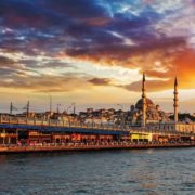 Posters Fototapeta Istanbul City Sunset 104x70.5 cm - 130g/m2 Vlies Non-Woven - Posters