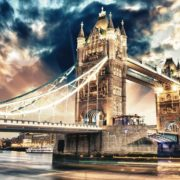 Posters Fototapeta City London Tower Bridge 104x70.5 cm - 130g/m2 Vlies Non-Woven - Posters