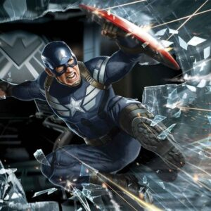 Posters Fototapeta Avengers Captain America 152.5x104 cm - 130g/m2 Vlies Non-Woven - Posters