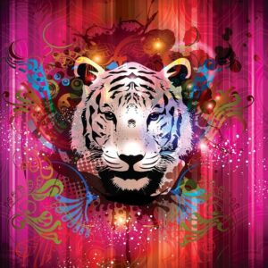 Posters Fototapeta Tiger Abstract 152.5x104 cm - 130g/m2 Vlies Non-Woven - Posters