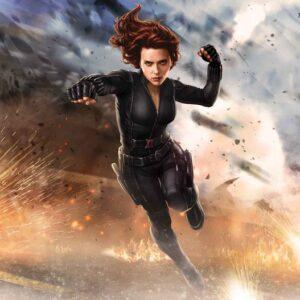 Posters Fototapeta Marvel Avengers Black Widow 104x70.5 cm - 130g/m2 Vlies Non-Woven - Posters