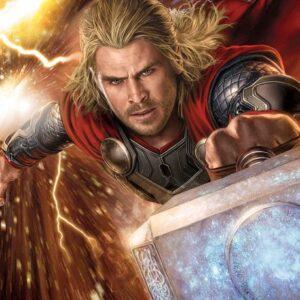 Posters Fototapeta Marvel Avengers Thor 152.5x104 cm - 130g/m2 Vlies Non-Woven - Posters