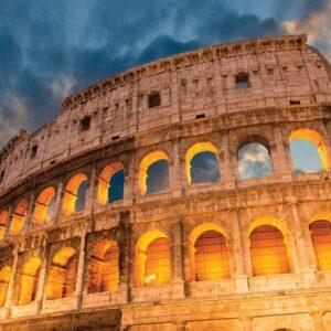 Posters Fototapeta Colosseum City Sunset 152.5x104 cm - 130g/m2 Vlies Non-Woven - Posters