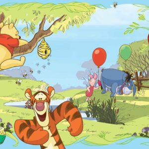 Posters Fototapeta Disney Winnie Pooh Tigger Eeyore Piglet 208x146 cm - 130g/m2 Vlies Non-Woven - Posters
