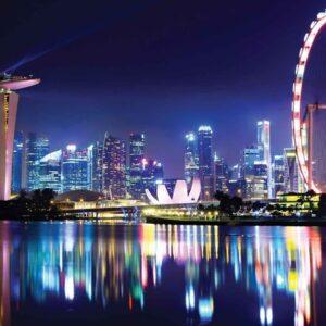 Posters Fototapeta Singapore City Skyline 104x70.5 cm - 130g/m2 Vlies Non-Woven - Posters
