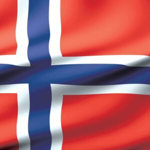 Posters Fototapeta Flag Norway 104x70.5 cm - 130g/m2 Vlies Non-Woven - Posters