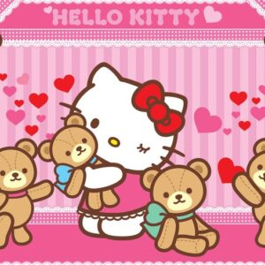 Posters Fototapeta Hello Kitty 211x90 cm - 130g/m2 Vlies Non-Woven - Posters