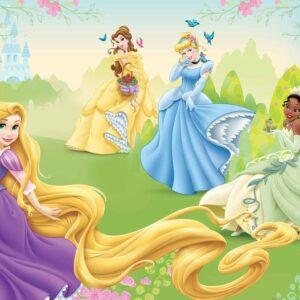 Posters Fototapeta Disney Princesses Rapunzel Tiana Belle 152.5x104 cm - 130g/m2 Vlies Non-Woven - Posters