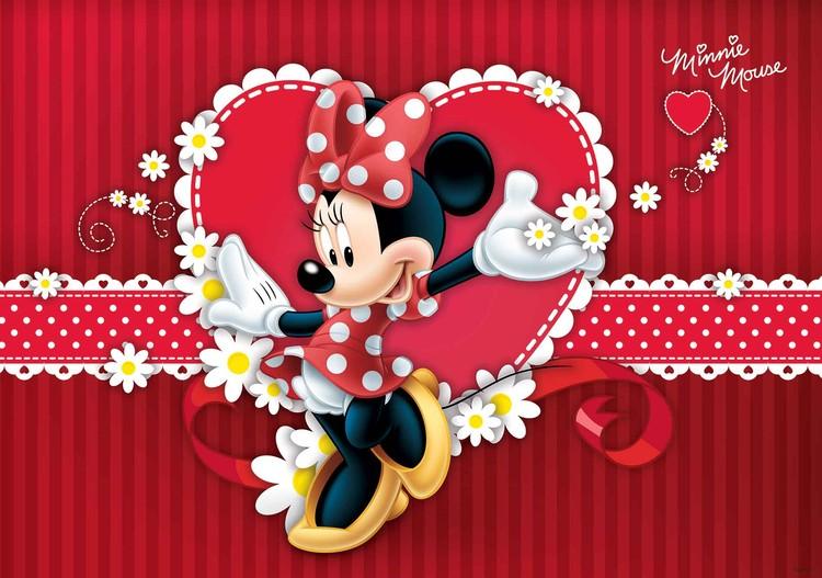 Posters Fototapeta Disney Minnie Mouse 104x70.5 cm - 130g/m2 Vlies Non-Woven - Posters