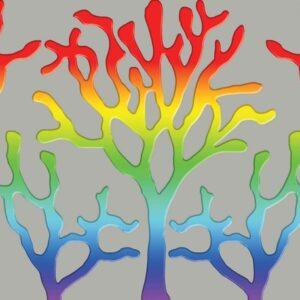 Posters Fototapeta Tree Abstract Rainbow 152.5x104 cm - 130g/m2 Vlies Non-Woven - Posters