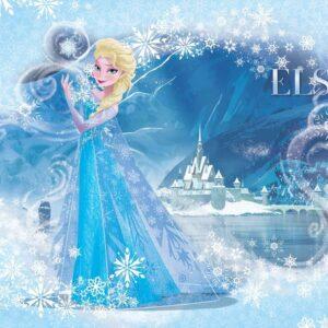 Posters Fototapeta Disney Frozen Elsa 152.5x104 cm - 130g/m2 Vlies Non-Woven - Posters