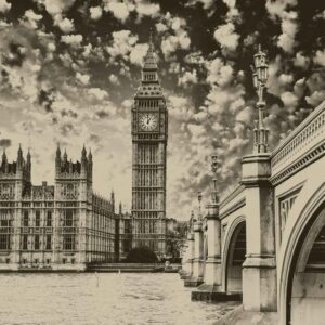 Posters Fototapeta Houses of Parliament City 152.5x104 cm - 130g/m2 Vlies Non-Woven - Posters
