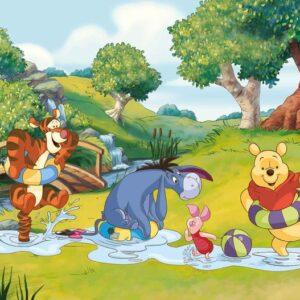 Posters Fototapeta Disney Winnie Pooh Tigger Eeyore Piglet 104x70.5 cm - 130g/m2 Vlies Non-Woven - Posters