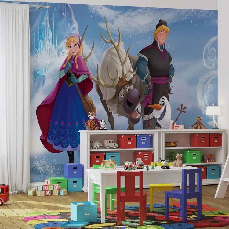 Posters Fototapeta Disney Frozen 152.5x104 cm - 130g/m2 Vlies Non-Woven - Posters