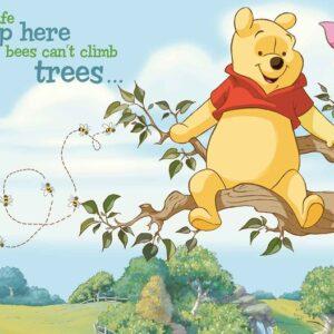 Posters Fototapeta Disney Winnie Pooh Piglet 208x146 cm - 130g/m2 Vlies Non-Woven - Posters