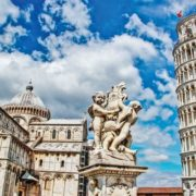 Posters Fototapeta City Piazza Miracoli Leaning Tower Pisa 152.5x104 cm - 130g/m2 Vlies Non-Woven - Posters