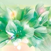 Posters Fototapeta Flowers Nature Green 152.5x104 cm - 130g/m2 Vlies Non-Woven - Posters