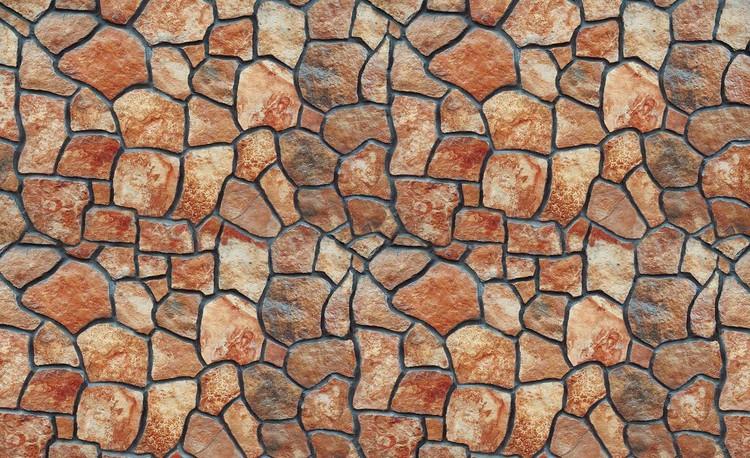 Posters Fototapeta Stone Wall 152.5x104 cm - 130g/m2 Vlies Non-Woven - Posters