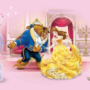 Posters Fototapeta Disney Princesses Beauty Beast 208x146 cm - 130g/m2 Vlies Non-Woven - Posters