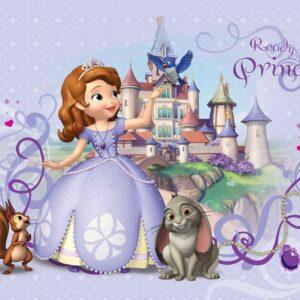 Posters Fototapeta Disney Sofia First 104x70.5 cm - 130g/m2 Vlies Non-Woven - Posters