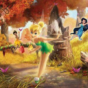 Posters Fototapeta Disney Fairies Tinker Bell Rosetta Klara 104x70.5 cm - 130g/m2 Vlies Non-Woven - Posters