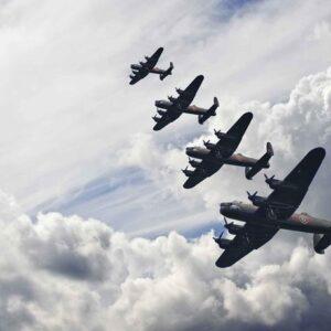Posters Fototapeta Bomber planes 254x184 cm - 115g/m2 Paper - Posters