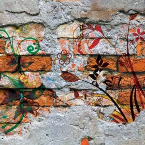 Posters Fototapeta Wall Graffiti Street Art 254x184 cm - 115g/m2 Paper - Posters