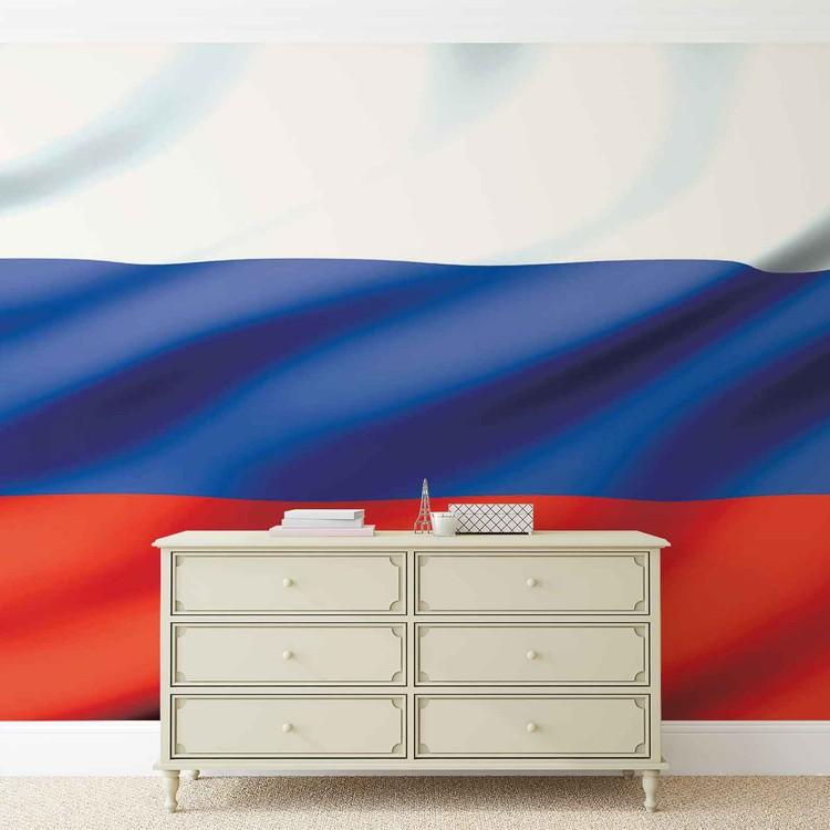 Posters Fototapeta Flag Russia 254x184 cm - 115g/m2 Paper - Posters