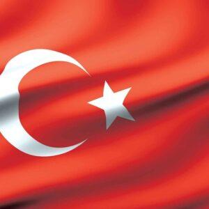 Posters Fototapeta Flag Turkey 208x146 cm - 130g/m2 Vlies Non-Woven - Posters