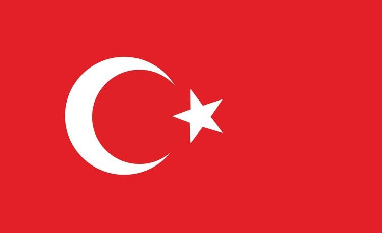 Posters Fototapeta Flag Turkey 254x184 cm - 115g/m2 Paper - Posters