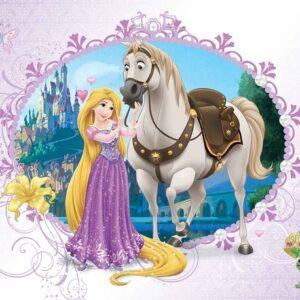 Posters Fototapeta Disney Princesses Rapunzel 152.5x104 cm - 130g/m2 Vlies Non-Woven - Posters