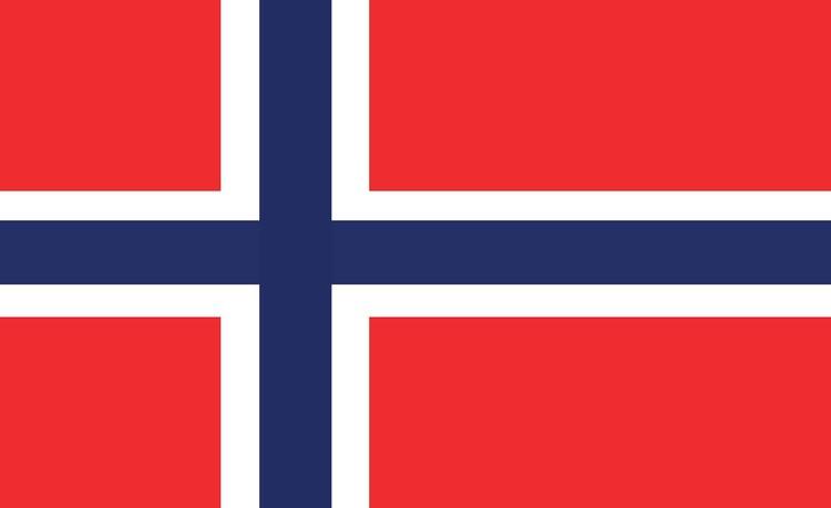 Posters Fototapeta Flag Norway 152.5x104 cm - 130g/m2 Vlies Non-Woven - Posters