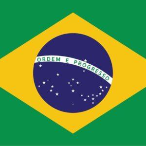 Posters Fototapeta Flag Brasil 152.5x104 cm - 130g/m2 Vlies Non-Woven - Posters