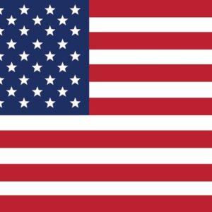 Posters Fototapeta USA America Flag 152.5x104 cm - 130g/m2 Vlies Non-Woven - Posters