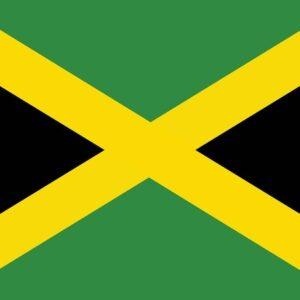 Posters Fototapeta Flag Jamaica 104x70.5 cm - 130g/m2 Vlies Non-Woven - Posters