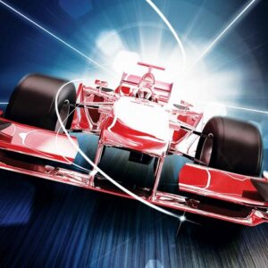 Posters Fototapeta Car Formula 1 Red 208x146 cm - 130g/m2 Vlies Non-Woven - Posters