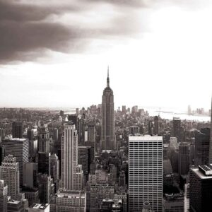 Posters Fototapeta City New York Skyline Empire State 152.5x104 cm - 130g/m2 Vlies Non-Woven - Posters