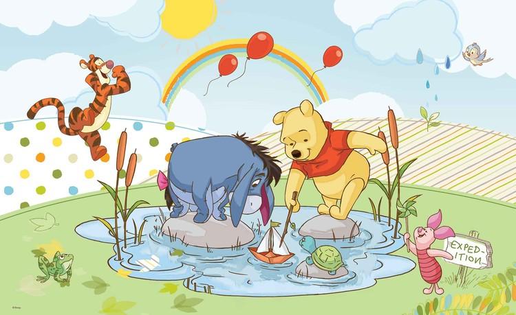 Posters Fototapeta Disney Winnie Pooh Piglet Tigger Eeyore 208x146 cm - 130g/m2 Vlies Non-Woven - Posters