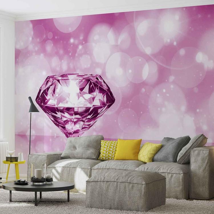 Posters Fototapeta Diamond Pink 152.5x104 cm - 130g/m2 Vlies Non-Woven - Posters