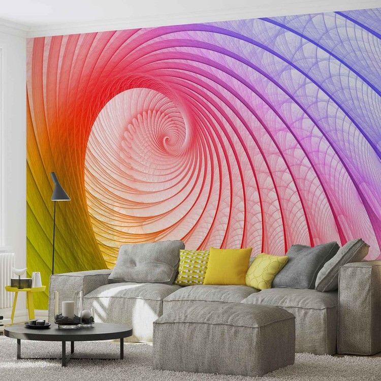 Posters Fototapeta Abstract Swirl Colours 152.5x104 cm - 130g/m2 Vlies Non-Woven - Posters