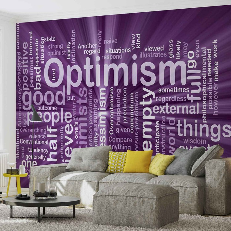 Posters Fototapeta Optimism Abstract 208x146 cm - 130g/m2 Vlies Non-Woven - Posters