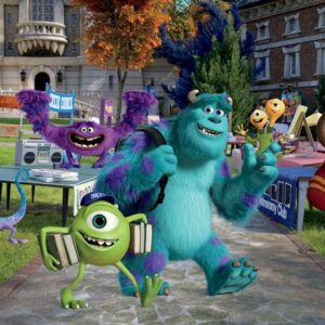 Posters Fototapeta Disney Monsters Inc 152.5x104 cm - 130g/m2 Vlies Non-Woven - Posters