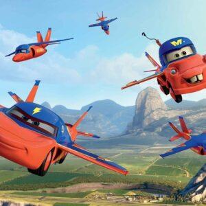 Posters Fototapeta Disney Cars Planes Air Mater 254x184 cm - 115g/m2 Paper - Posters