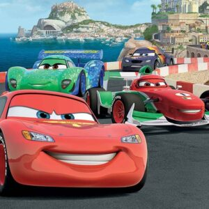 Posters Fototapeta Disney Cars Lightning McQueen Bernoulli 104x70.5 cm - 130g/m2 Vlies Non-Woven - Posters