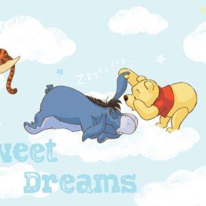 Posters Fototapeta Disney Winnie Pooh Piglet Tigger Eeyore 152.5x104 cm - 130g/m2 Vlies Non-Woven - Posters