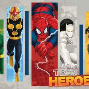 Posters Fototapeta Marvel Comics Team Heroes 254x184 cm - 115g/m2 Paper - Posters