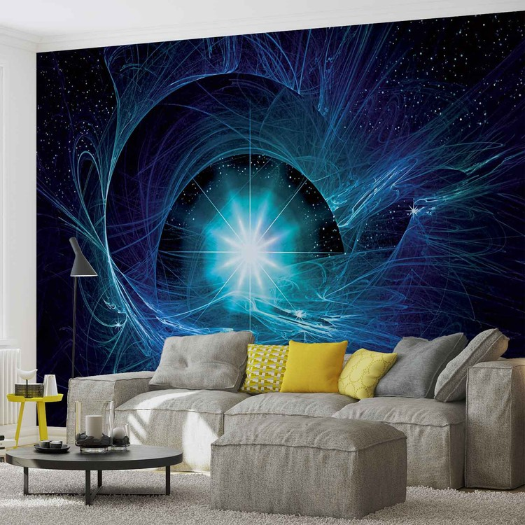 Posters Fototapeta Cosmic Star Abstract 250x104 cm - 130g/m2 Vlies Non-Woven - Posters
