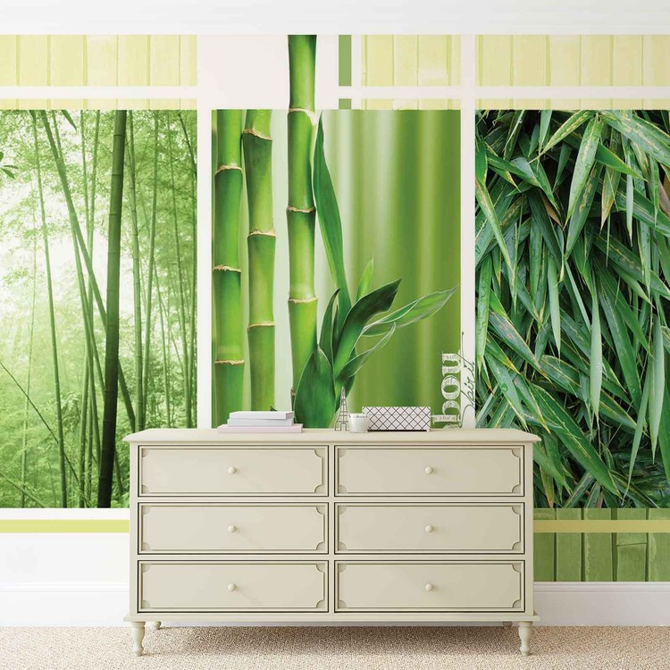 Posters Fototapeta Bamboo Forest Nature 250x104 cm - 130g/m2 Vlies Non-Woven - Posters