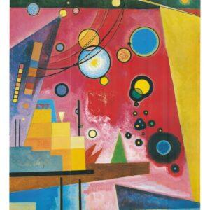Posters Reprodukce Vasilij Kandinsky - Hustá Červená - Heavy Red